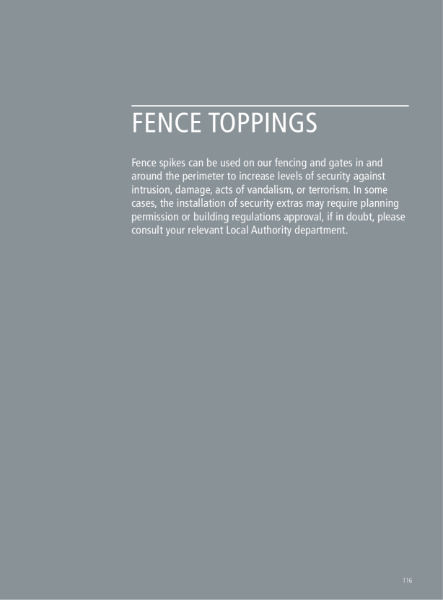 Fence Toppings and PIDS
