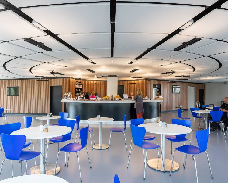 Rockfon ceiling islands completes cutting-edge Dyson Institute