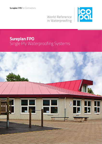 Icopal Sureplan FPO Single Ply Roof Waterproofing Systems for Contractors