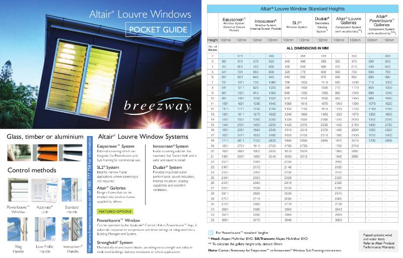 Pocket Guide - Altair Louvre Windows