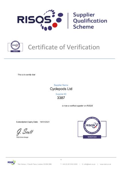 RISQS Certification