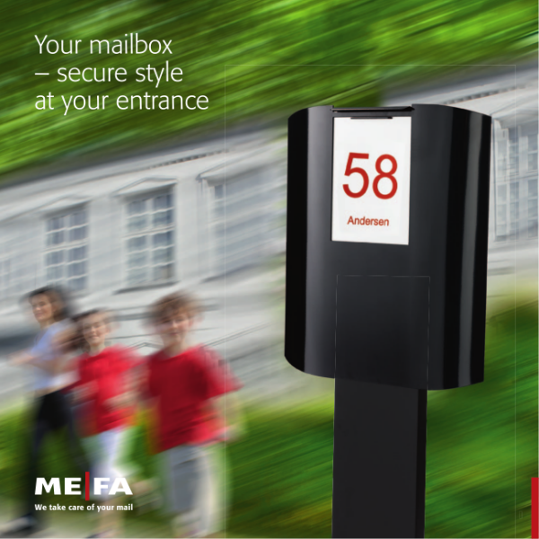 The Individual Single MEFA Mailbox Brochure featuring a range of high-end post boxes suitable for the everyday home