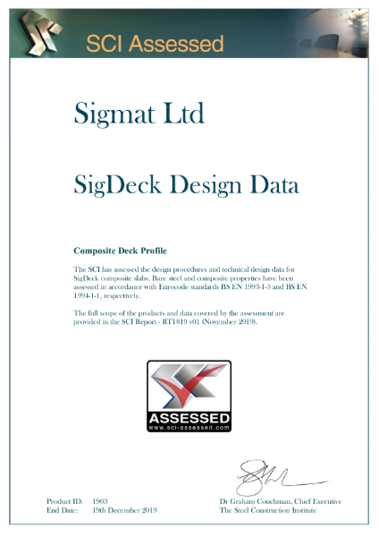 Sigmat SigDeck - SCI Assessed
