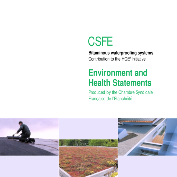 Bituminous waterproofing systems - Environment and Health Statements