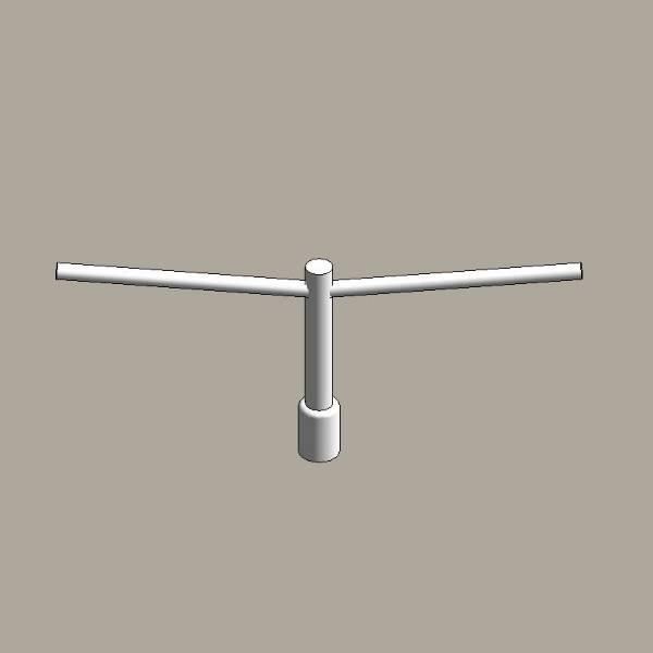 Aluminium column uplift brackets - twin arm