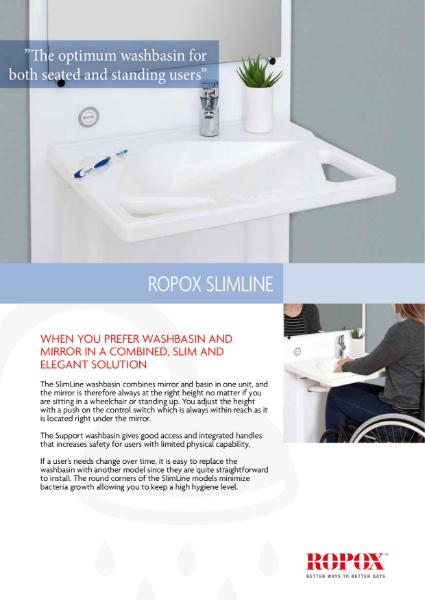 Ropox SlimLine washbasin