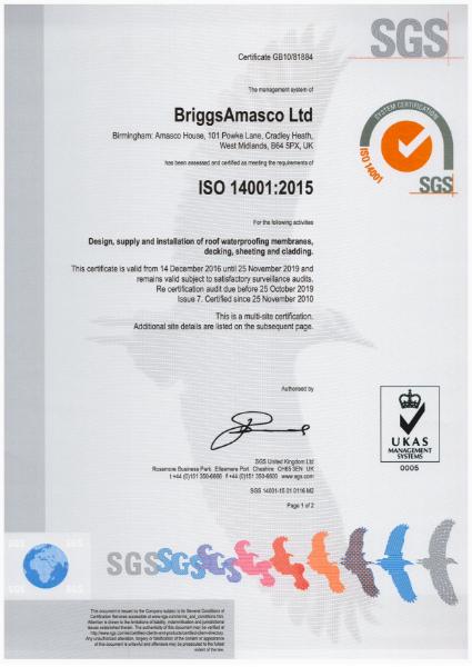BriggsAmasco ISO 14001:2015
