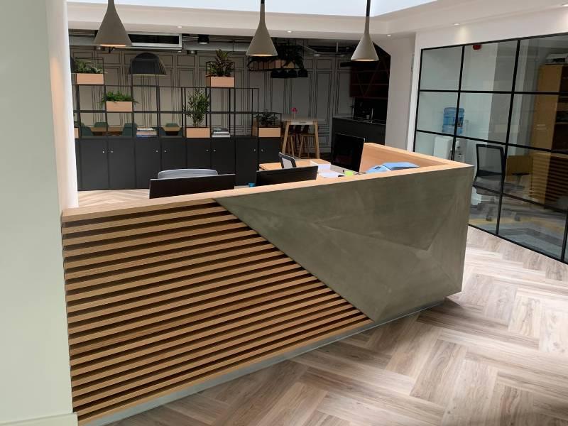 K2 Space Concrete Reception Desk