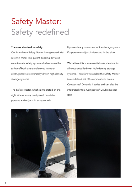 Safety Master: high standard safety system for storage systems