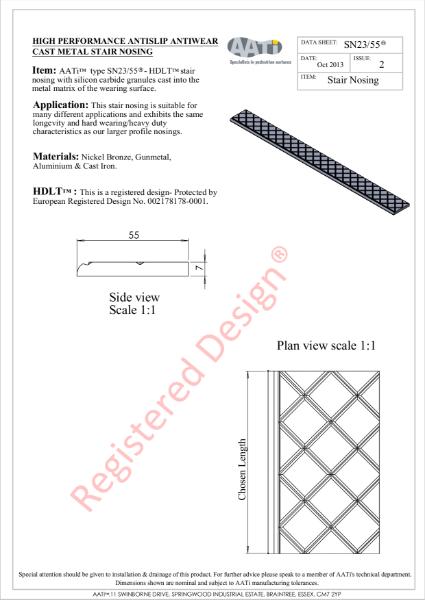 Stair Nosing Anti-slip SN23/55® Cast metal