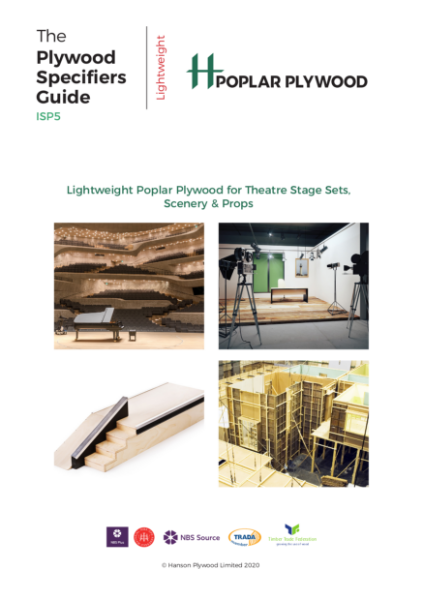 H Poplar Plywood for Theatre Stage Sets, Scenary & Props