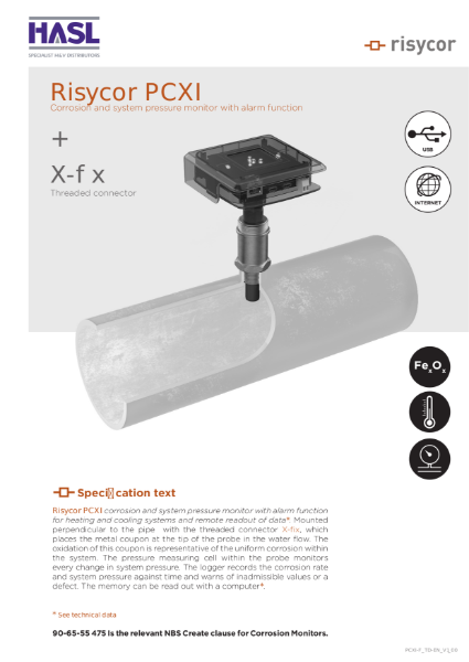 Risycor PCXI-fix set Technical Datasheet EN