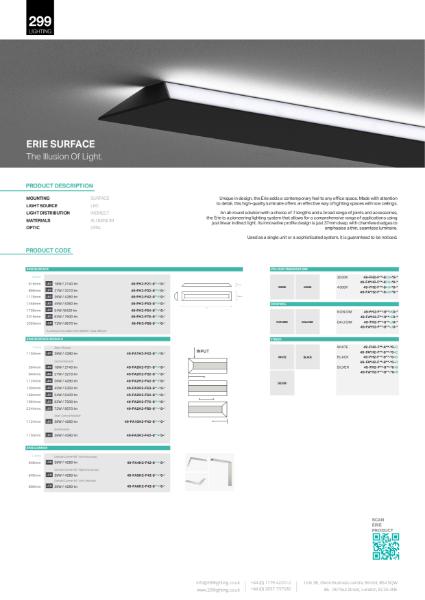 Erie Surface Feature Lighting Datasheet
