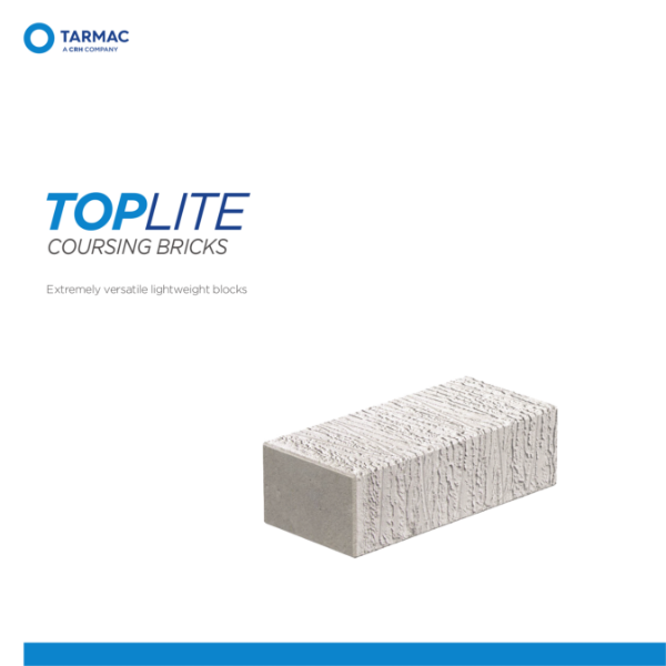 Toplite Coursing Bricks - Aircrete Blocks Product Guide