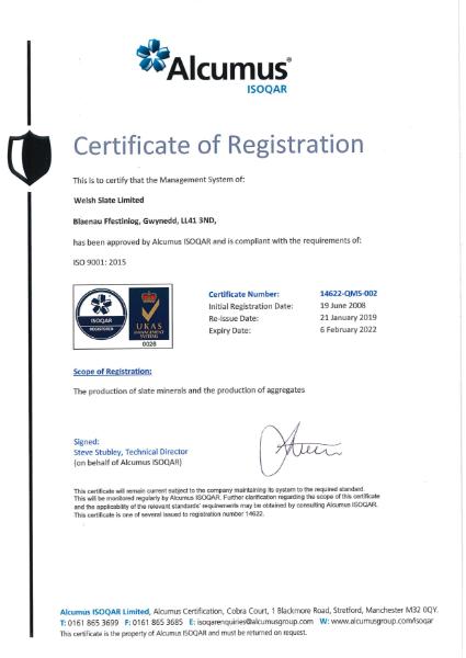 ISO 9001: 2015 Blaenau Ffestiniog
