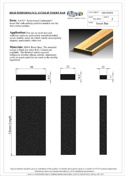 Anti-slip Insert Bar AATi Resin-based Carburaati