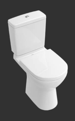 O.novo Washdown WC for Close-coupled WC-suite, Horizontal Outlet 566110