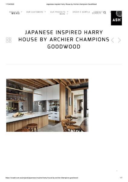 Japanese Inspired Harry House