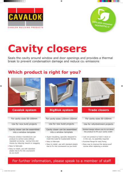Cavalok Cavity Closers Product Range and Systems