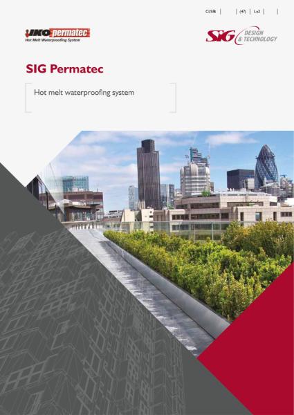 IKO PermaTEC Hot Melt waterproofing system product brochure