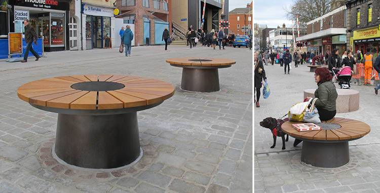 Unique seating developed for High Street improvement scheme