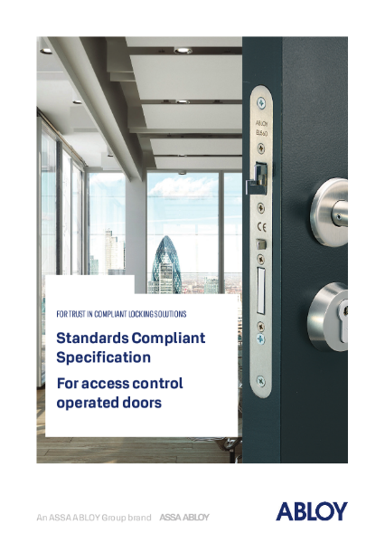 Standards compliant specification for access control operated doors