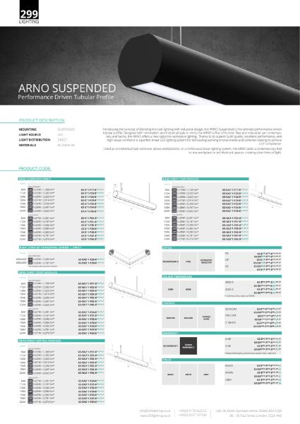 Arno Suspended Linear Lighting Datasheet