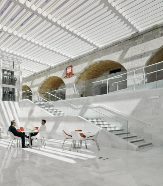 Easy Glass Pro glass balustrade - Spanish university building
