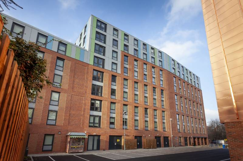 Profile 22 Flush Tilt and Turn windows have been used in the construction of flats for University of Derby students.