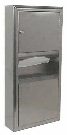 Paper Towel Dispenser and Waste Receptacle - B-369 and B-3699