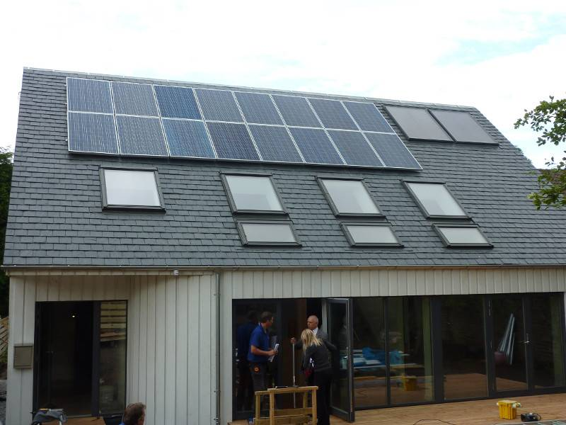Triple-glazed roof windows for Passive House in North Berwick