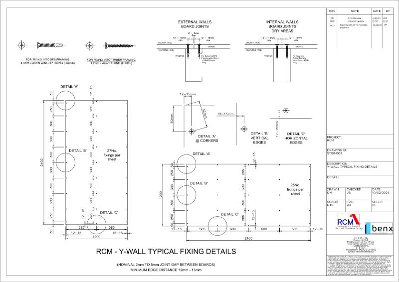 Board Fixing Guide - Y-Wall