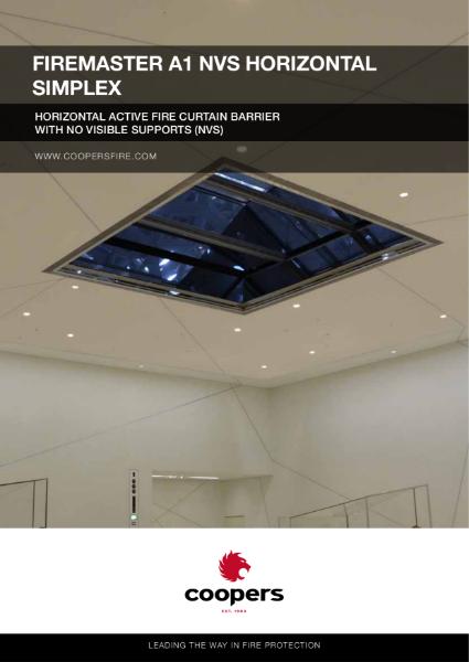 FireMasterR A1 NVS Horizontal Simplex Fire Curtain Barrier