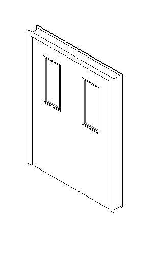 Internal Double Door, Vision Panel Style VP06
