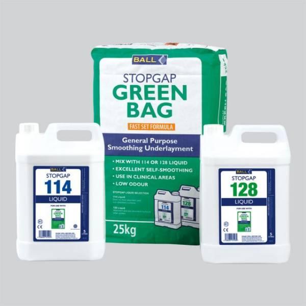 Stopgap Green Bag and Liquid