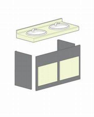 RPM Semi Recessed Vanity Unit SGL