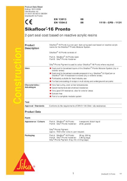 Sikafloor 16 Pronto