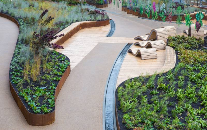 Bespoke CorTen steel planter system for a challenging environment