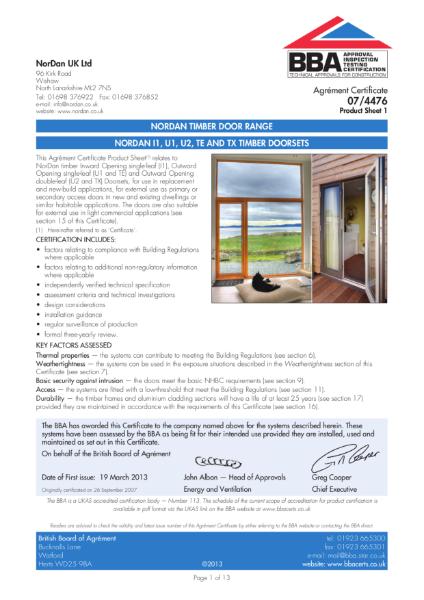 07/4476 Timber door range