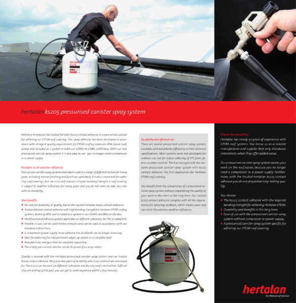 KS205 Spray Adhesive Canister