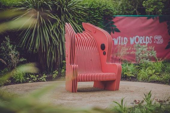 Talking chairs at Chester Zoo take you to a whole new world with MEDITE® TRICOYA® EXTREME