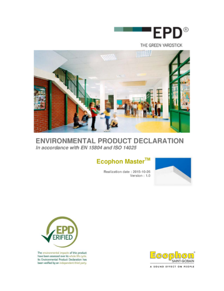Master Environmental Product Declaration