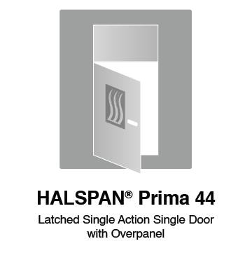 HALSPAN® Prima 44 mm Internal Fire Rated Door Blank - Latched Single Acting Single Doors With Overpanel