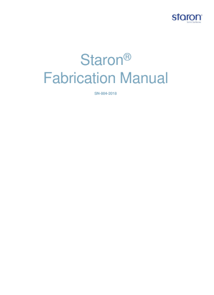 Staron Fabrication Guide