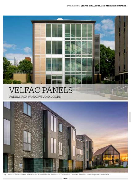 VELFAC Composite Panels Product catalogue