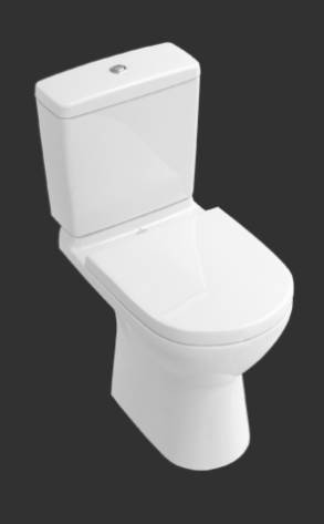 O.novo Washdown WC for Close-coupled WC-suite, Vertical Outlet 566101