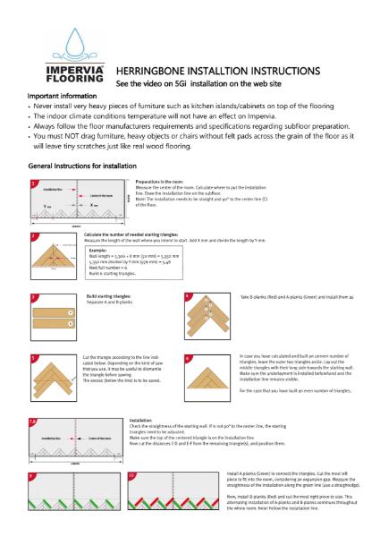 Impervia 5G-i Herringbone Parquet Installation Guide