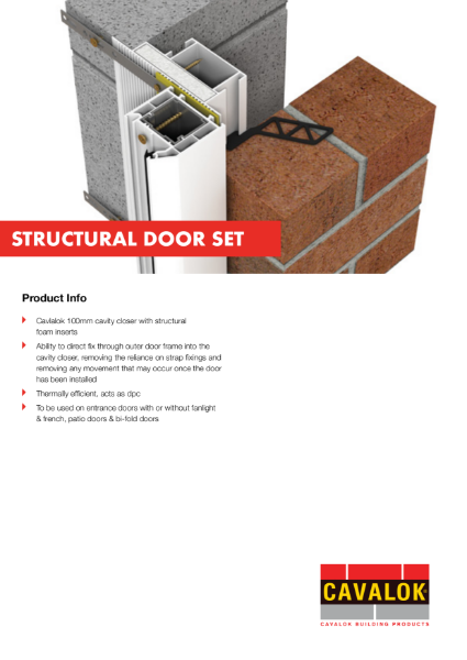 Cavalok Cavity Closer Structural Door Set Product Information