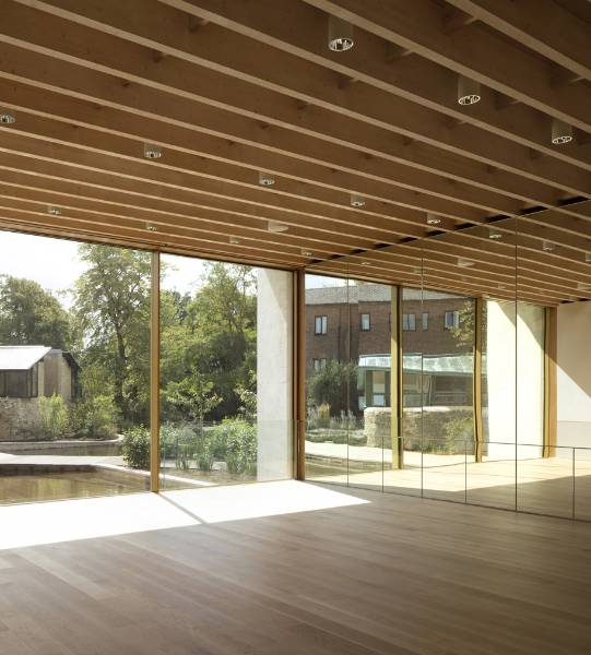 Junckers Solid Oak Floors at Contemporary Addition to Worcester College, Oxford