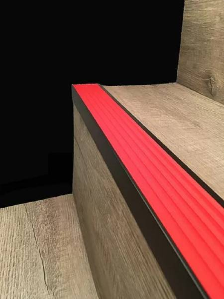 Black Anodised Aluminium Stair Nosing